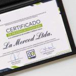 Certificad de Prudencia Financiera Cooperativa La Merced